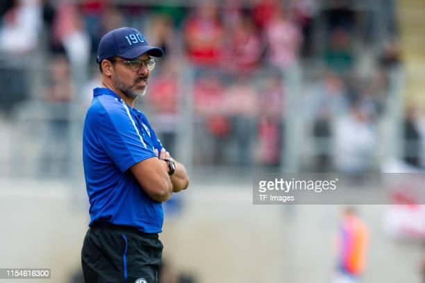 Head coach David Wagner of FC Schalke 04 looks on during the preseason friendly match between RW Oberhausen and Schalke 04 on July 07 2019 in...