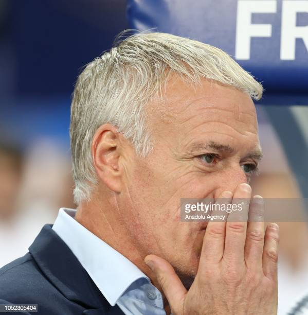 Head coach Didier Deschamps of France looks on prior to the UEFA Nations League A Group 1 match between France and Germany at Stade de France in...