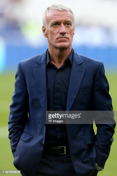 Head coach Didier Deschamps of France looks on prior to UEFA Euro 2020 qualifier match between France and Andorra at Stade de France on September 10,...