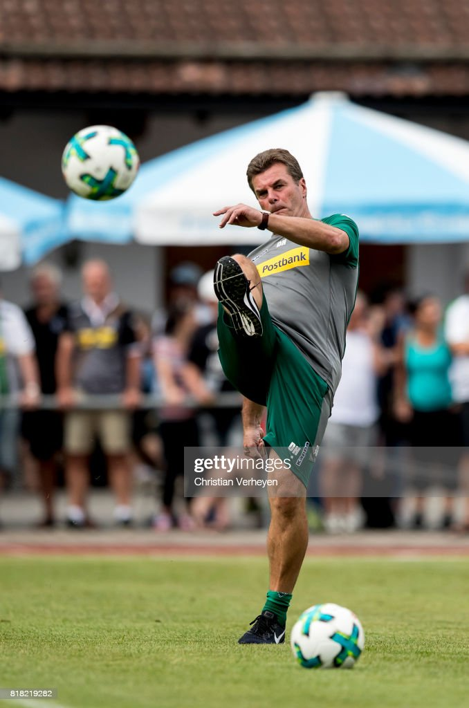 Head Coach Dieter Hecking of Borussia Moenchengladbach during a training session at the Training Camp of Borussia Moenchengladbach on July 18, 2017 in Rottach-Egern, Germany.