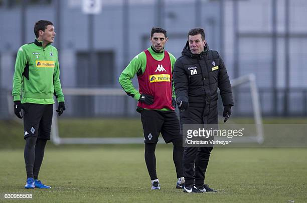 Head Coach Dieter Hecking of Borussia Moenchengladbach during a Borussia Moenchengladbach training session at BorussiaPark on January 04 2017 in...
