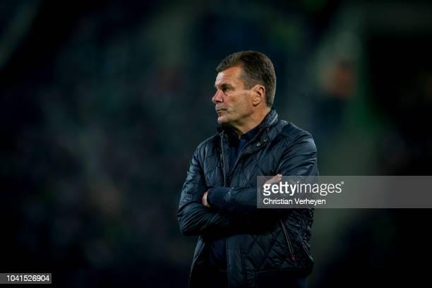 Head Coach Dieter Hecking of Borussia Moenchengladbach during the Bundesliga match between Borussia Moenchengladbach and Eintracht Frankfurt at...