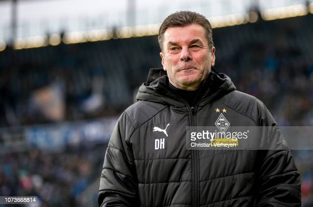 Head Coach Dieter Hecking of Borussia Moenchengladbach is seen ahead the Bundesliga match between TSG 1899 Hoffenheim and Borussia Moenchengladbach...