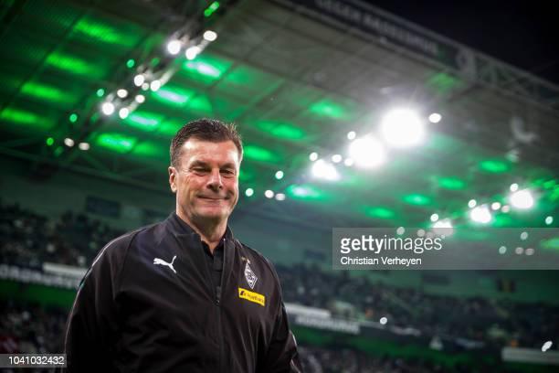 Head Coach Dieter Hecking of Borussia Moenchengladbach is seen before the Bundesliga match between Borussia Moenchengladbach and Eintracht Frankfurt...