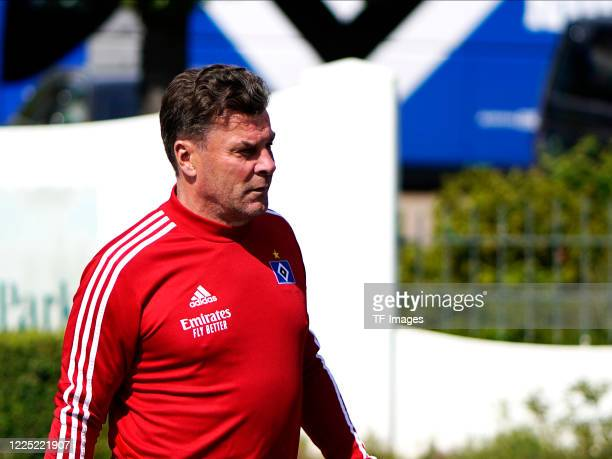 head coach Dieter Hecking of Hamburger SV during the training session of Hamburger SV on May 15 2020 in Herzogenaurach Germany