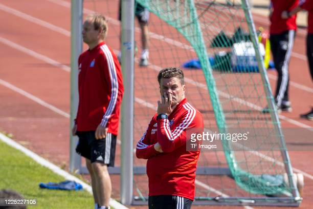 head coach Dieter Hecking of Hamburger SV during the training session of Hamburger SV on May 16 2020 in Herzogenaurach Germany