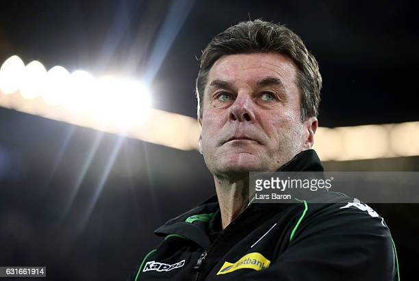 HEad coach Dieter Hecking of Moenchengladbach looks on during the Telekom Cup 2017 match between Borussia Moenchengladbach and 1. FSV Mainz 05 at...