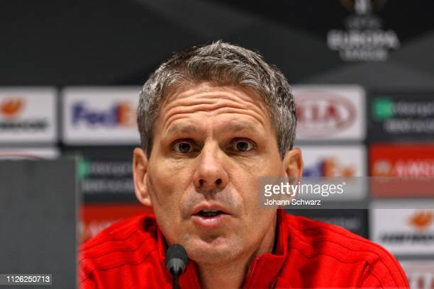 Head coach Dietmar Kuehbauer of Rapid during SK Rapid Training and Press Conference at Stadio San Siro on February 20 2019 in Milan Italy