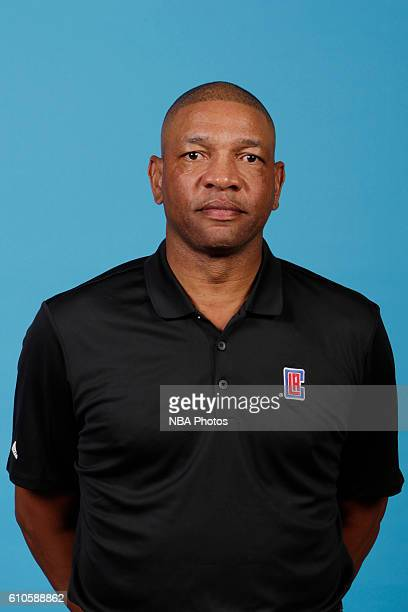 Head coach Doc Rivers of the Los Angeles Clippers poses for a head shot during the 20162017 Los Angeles Clippers Media Day on September 26 2016 at...