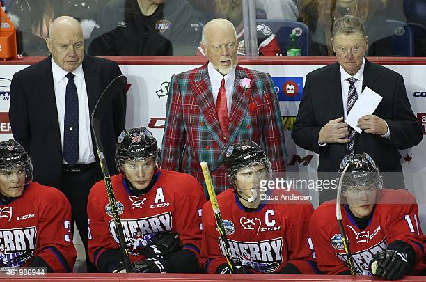Head coach Don Cherry of Team Cherry looks on against Team Orr in the 2015 BMO CHL/NHL Top Prospects game at the Meridian Centre on January 22 2015...