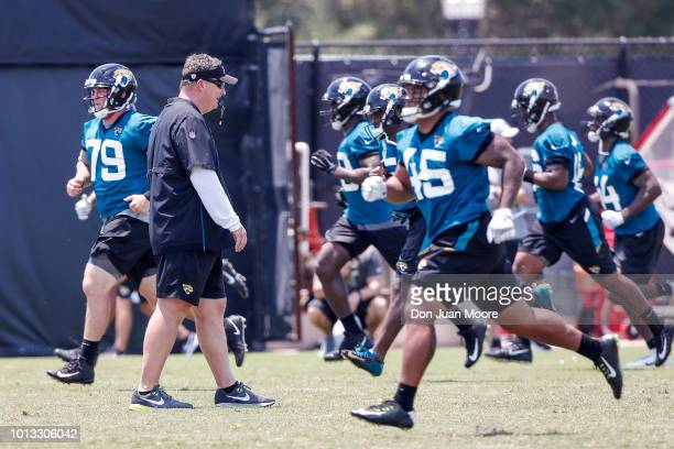 Head Coach Doug Marrone of the Jacksonville Jaguars during Training Camp at Dream Finders Homes Practice Complex on July 27 2018 in Jacksonville...