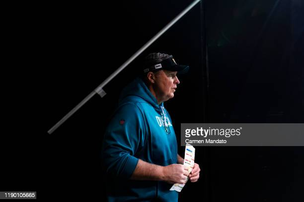 Head coach Doug Marrone of the Jacksonville Jaguars takes the field prior to a game against the Atlanta Falcons at MercedesBenz Stadium on December...