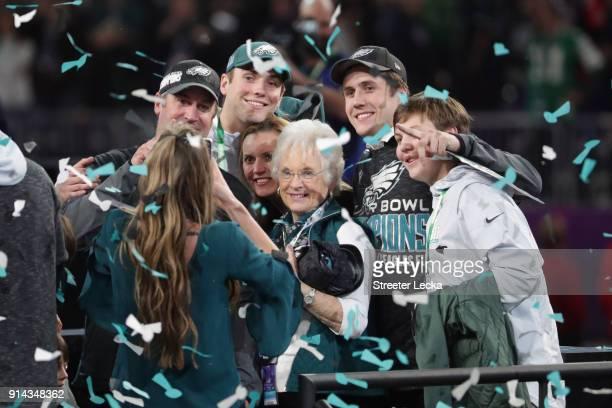 Head coach Doug Pederson of the Philadelphia Eagles celebrates with his family after his teams 4133 win over the New England Patriots in Super Bowl...