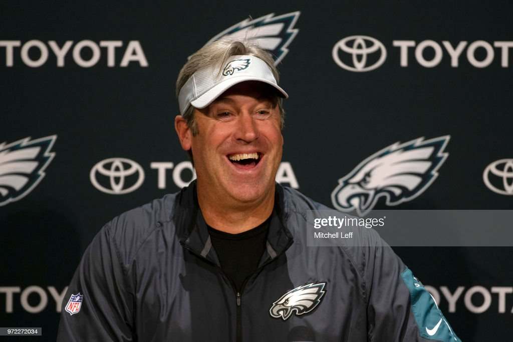 Head coach Doug Pederson of the Philadelphia Eagles talks to the media  prior to the start 75f9d8f00
