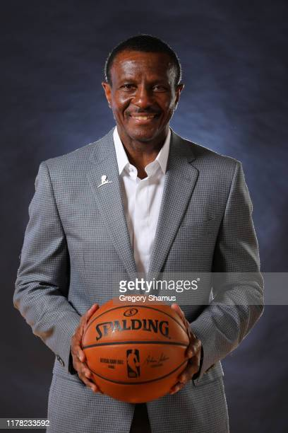 Head coach Dwane Casey of the Detroit Pistons poses for a portrait during the Detroit Pistons Media Day at Pistons Practice Facility on September 30,...