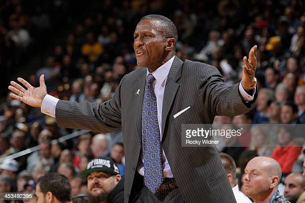 Head Coach Dwane Casey of the Toronto Raptors coaches against the Golden State Warriors on December 3 2013 at Oracle Arena in Oakland California NOTE...