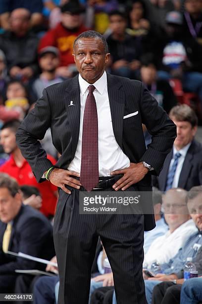 Head Coach Dwane Casey of the Toronto Raptors coaches against the Sacramento Kings on December 2 2014 at Sleep Train Arena in Sacramento California...
