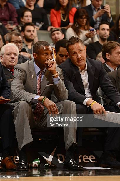 Head coach Dwane Casey of the Toronto Raptors during the game against the Los Angeles Lakers on March 27 2015 at Verizon Center in Toronto Canada...