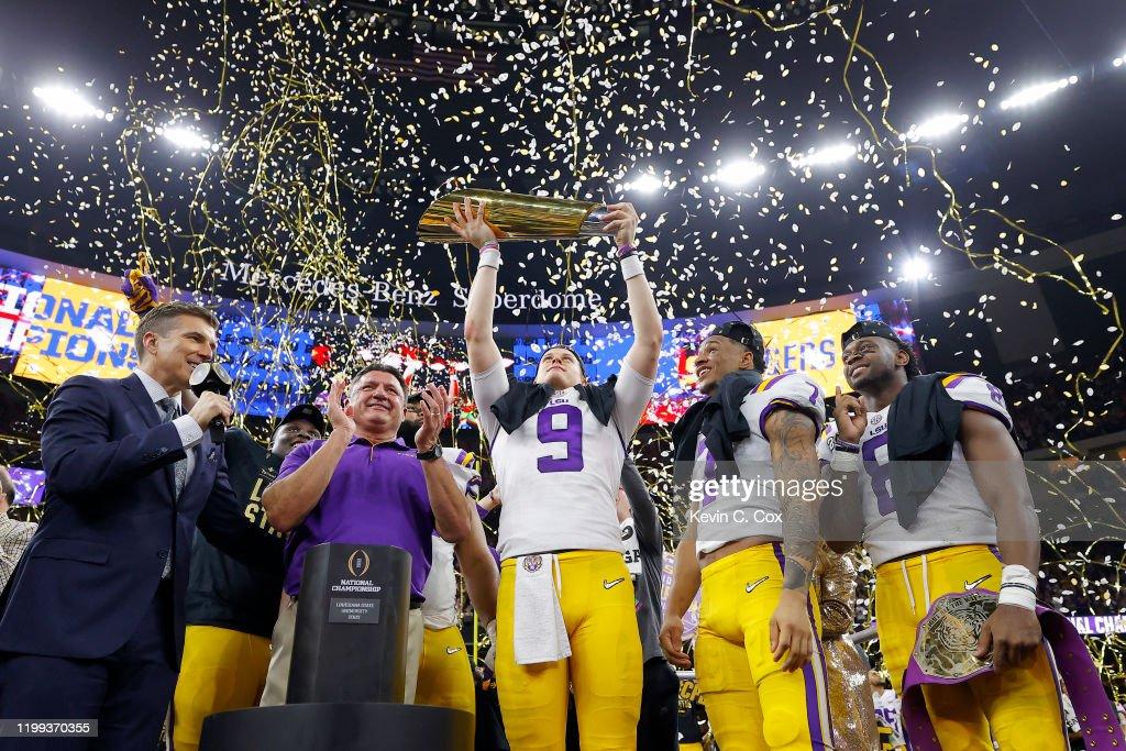 College Football Playoff National Championship - Clemson v LSU : News Photo