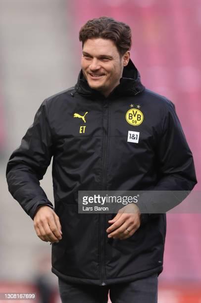Head coach Edin Tersic of Dortmund is seen during the Bundesliga match between 1. FC Koeln and Borussia Dortmund at RheinEnergieStadion on March 20,...