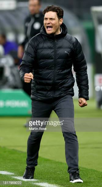 Head coach Edin Terzic of Borussia Dortmund reacts during the DFB Cup final match between RB Leipzig and Borussia Dortmund at Olympic Stadium on May...