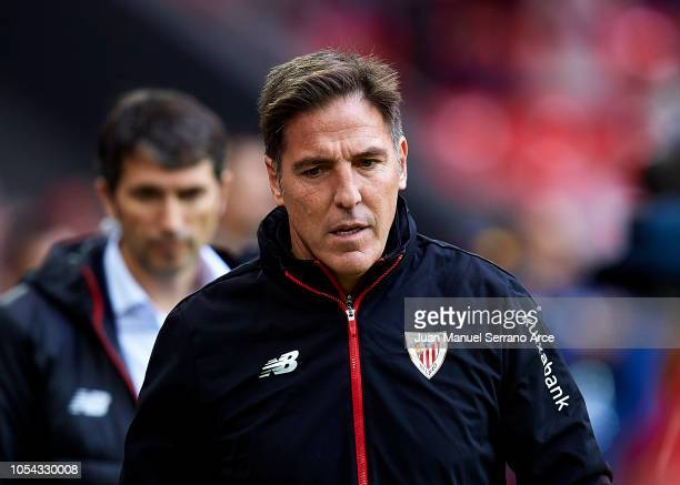 Head coach Eduardo Berizzo of Athletic Club looks on prior to the start the La Liga match between Athletic Club and Valencia CF at San Mames Stadium...