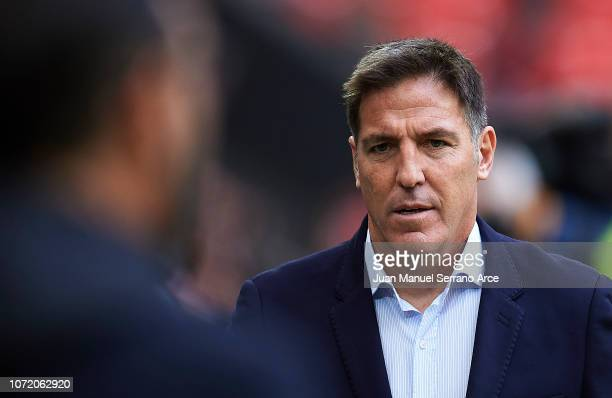 Head coach Eduardo Berizzo of Athletic Club looks on prior to the start the La Liga match between Athletic Club and Getafe CF at San Mames Stadium on...