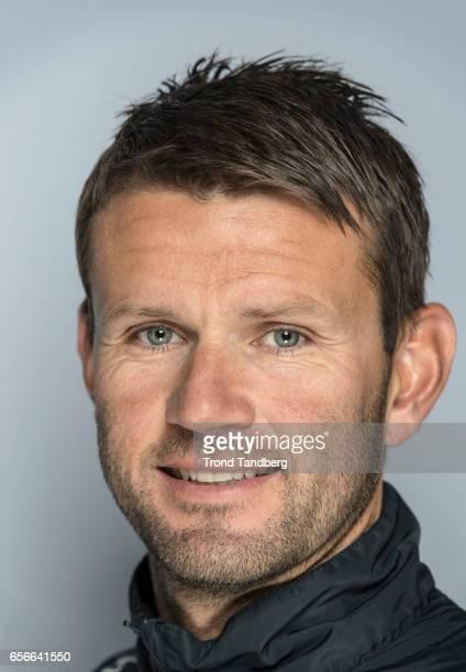 Head Coach Eirik Bakke of Team Sogndal Fotball during Photocall on March 22 2017 in Sogndal Norway