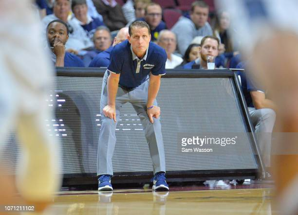 Head coach Eric Musselman of the Nevada Wolf Pack looks on during his team's game against the Tulsa Golden Hurricane the 2018 Continental Tire Las...