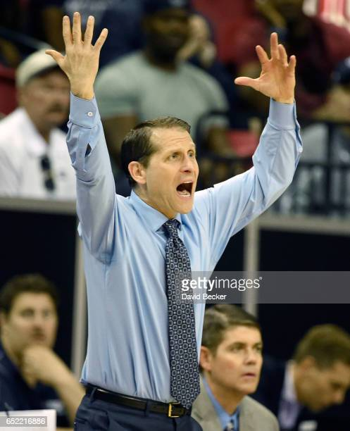 Head coach Eric Musselman of the Nevada Wolf Pack reacts from the sideline during the first half of the championship game against the Colorado State...