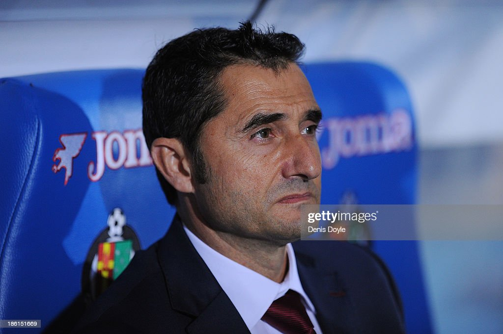 Head coach Ernesto Valverde of Athletic Club looks on during the La Liga match between Getafe CF and Athletic Club at Coliseum Alfonso Perez stadium on October 28, 2013 in Getafe, Spain.
