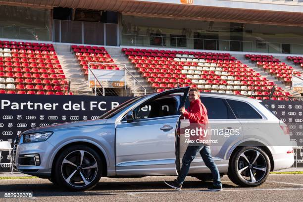 Head coach Ernesto Valverde of FC Barcelona receives his new Audi car during the Audi Car handover to the players of FC Barcelona on November 30 2017...