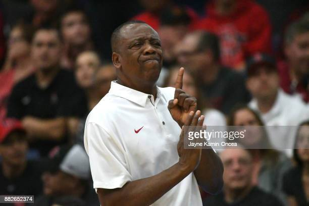 Head coach Ernie Kent of the Washington State Cougars during the game against the San Diego State Aztecs during the championship game of the Wooden...