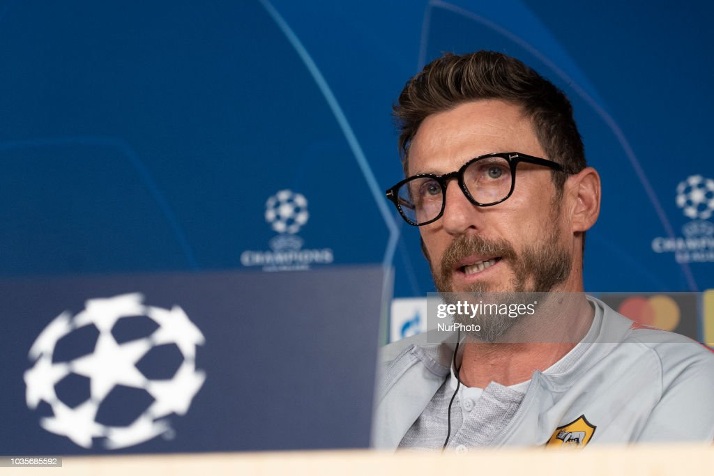 Roma Press Conference - UEFA Champions League : News Photo