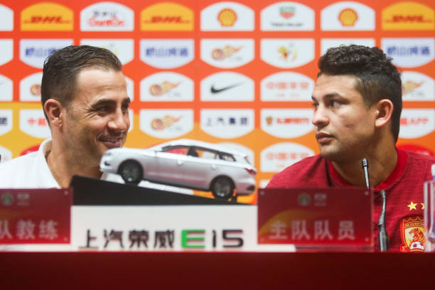 CHN: Guangzhou Evergrande Press Conference And Training Session