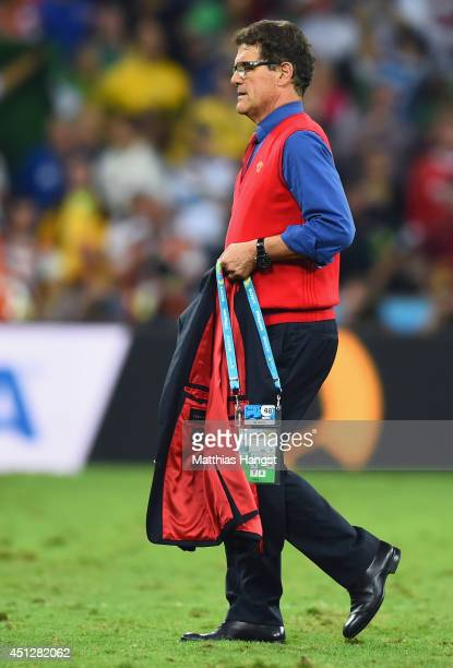 Head coach Fabio Capello of Russia looks on after a 11 draw during the 2014 FIFA World Cup Brazil Group H match between Algeria and Russia at Arena...