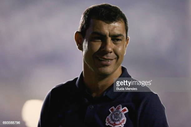 Head coach Fábio Carille of Corinthians in action during a match between Vasco and Corinthians as part of Brasileirao Series A 2017 at Sao Januario...