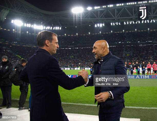 Head coach FC Internazionale Luciano Spalletti and Head coach Juventus FC Massimiliano Allegri chat prior to the Serie A match between Juventus and...