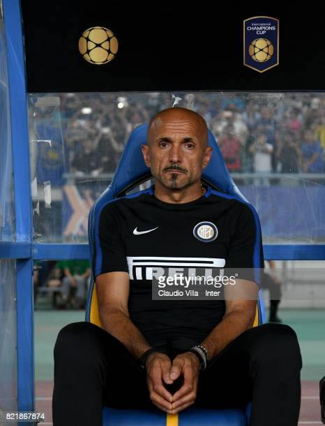 Head coach FC Internazionale Luciano Spalletti looks on prior to the 2017 International Champions Cup match between FC Internazionale and Olympique...