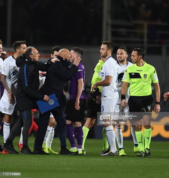 Head coach FC Internazionale Luciano Spalletti reacts at the end of the Serie A match between ACF Fiorentina and FC Internazionale at Stadio Artemio...
