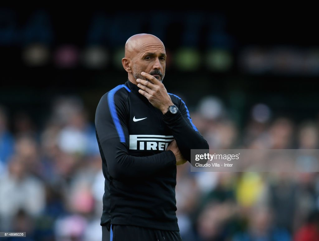 Head coach FC Internazionale Luciano Spalletti reacts during the Pre-Season Friendly match between FC Internazionale and Nurnberg on July 15, 2017 in Bruneck, Italy.