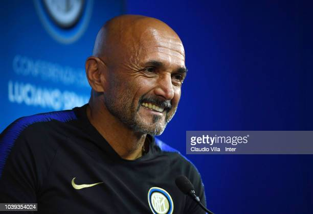 Head coach FC Internazionale Luciano Spalletti speaks with the media during a press conference at the club's training ground Suning Training Center...