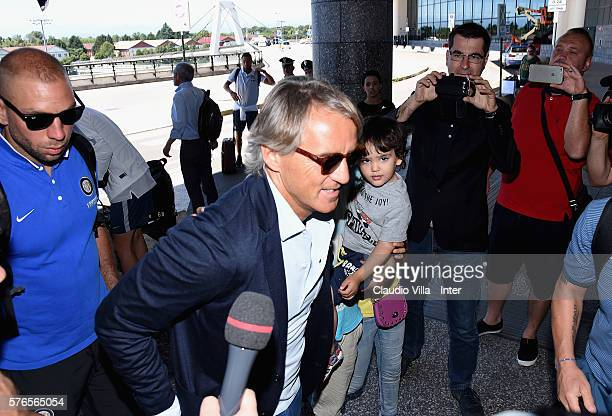 Head coach FC Internazionale Roberto Mancini at Malpensa Airport on July 16 2016 in Milan Italy