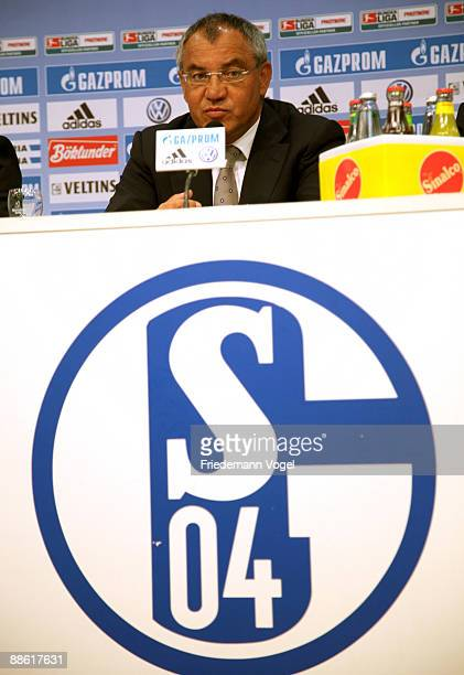 Head coach Felix Magath attends the press conference on June 22 2009 at the Veltins Arena in Gelsenkirchen Germany Schalke 04 presented Felix Magath...
