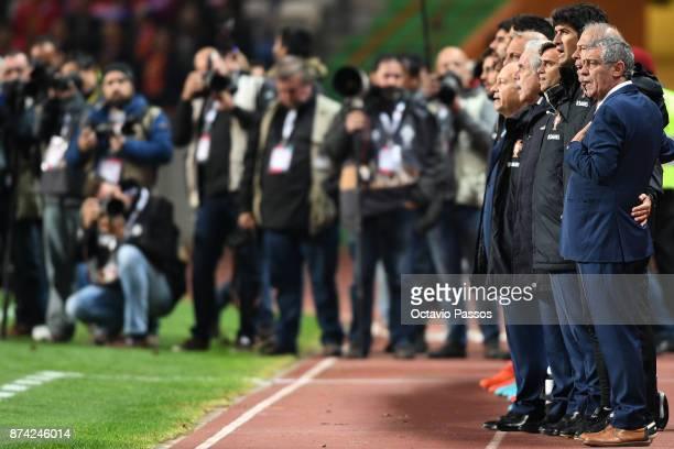 Head coach Fernando Santos of Portugal during the International Friendly match between Portugal and USA at Estadio Municipal Leiria on November 14...
