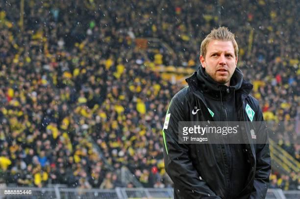 Head coach Florian Kohfeldt of Bremen looks on prior to the Bundesliga match between Borussia Dortmund and SV Werder Bremen at Signal Iduna Park on...
