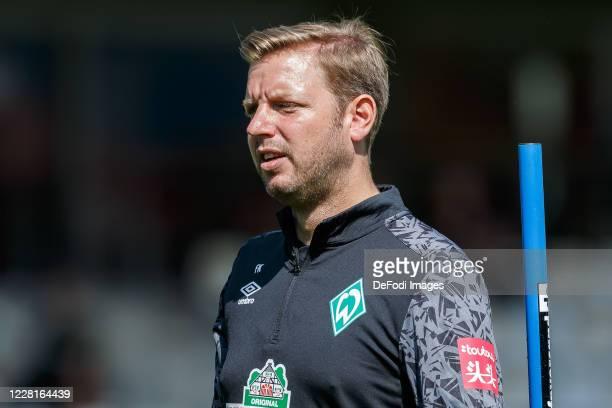 Head coach Florian Kohfeldt of SV Werder Bremen looks on during the Werder Bremen Training Camp on August 22, 2020 in Zell am Ziller, Austria.
