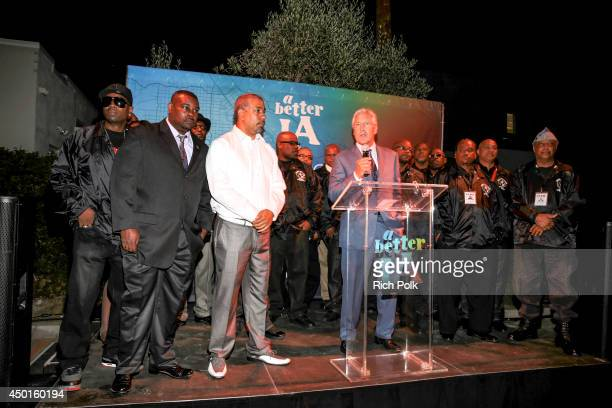 Head coach for the Seattle Seahawks 2014 Super Bowl Champions and Founder of ABLA Coach Pete Carroll speaks on stage at LA UNCOVERED An Evening...
