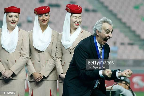 Head Coach Fossati Lurachi Jorge Daniel of Al Sadd of Qatar celebrate the win over Jeonbuk Hyundai Motors during the AFC Champions League Final match...