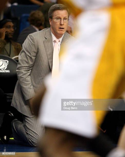 Head coach Fran McCaffery of the Siena Saints watches during his team's game against the Vanderbilt Commodores inthe first round of the 2008 NCAA...